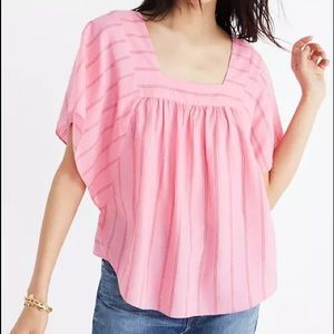 Madewell butterfly top Cecilia stripe pink small